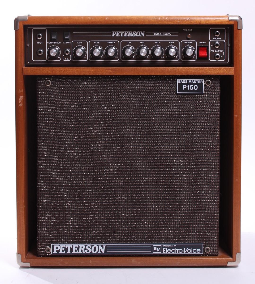 peterson bass master p 150 1980 natural amp for sale yeahman 39 s guitars. Black Bedroom Furniture Sets. Home Design Ideas