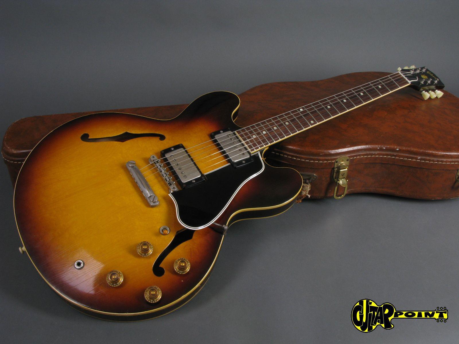 gibson es 335 t 1958 sunburst guitar for sale guitarpoint. Black Bedroom Furniture Sets. Home Design Ideas