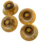 Montreux 59 Top Hat Knob Set Gold 8704 Fits To Les Paul And Similar Models 2015 Gold