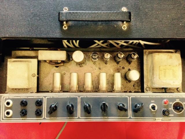 vox ac30 head 1964 black amp for sale denmark street guitars. Black Bedroom Furniture Sets. Home Design Ideas