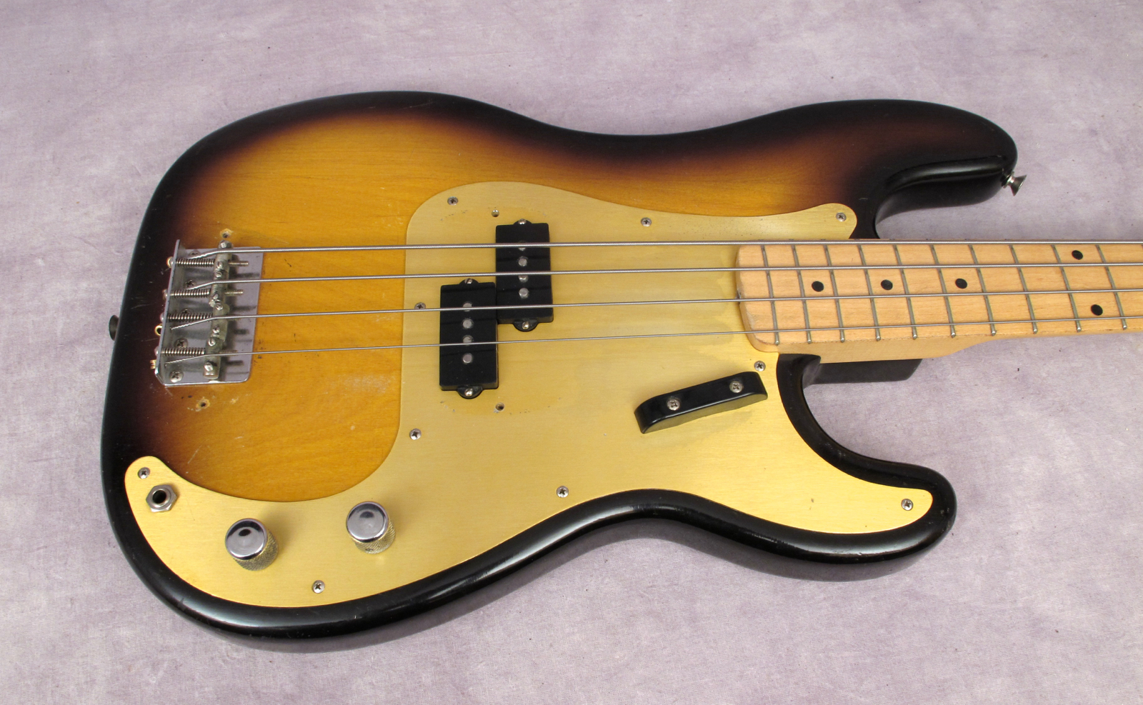 fender precision 1957 2 tone sunburst bass for sale andy baxter bass guitars ltd. Black Bedroom Furniture Sets. Home Design Ideas
