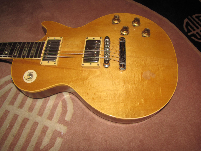 gibson les paul standard 1968 natural was gold top guitar for sale dan yablonka guitars. Black Bedroom Furniture Sets. Home Design Ideas