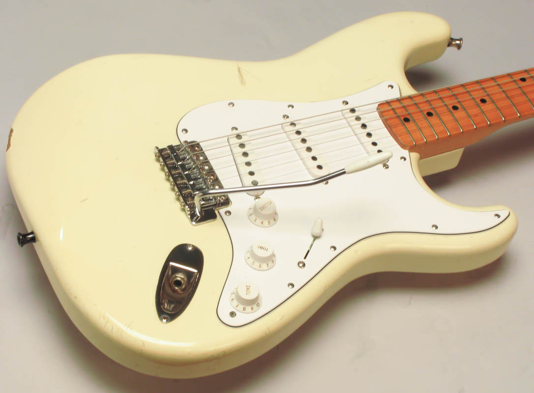 fender japanese squier stratocaster 1983 olympic white guitar for sale guitars west. Black Bedroom Furniture Sets. Home Design Ideas