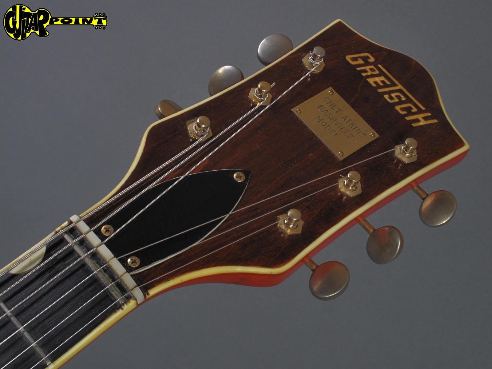 gretsch 6120 dc chet atkins 1966 orange guitar for sale guitarpoint. Black Bedroom Furniture Sets. Home Design Ideas