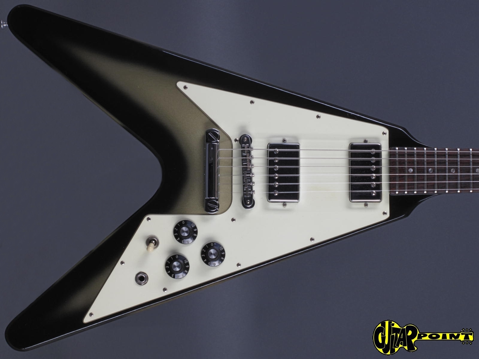 gibson flying v 1979 silverburst guitar for sale guitarpoint. Black Bedroom Furniture Sets. Home Design Ideas