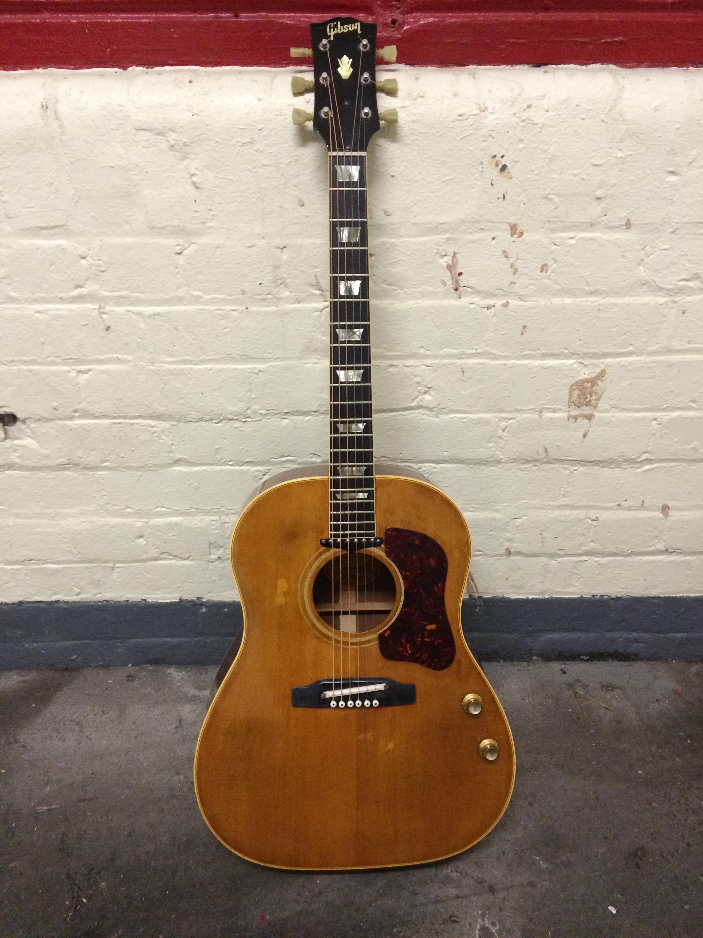 gibson j 160e 1964 natural guitar for sale richard henry guitars ltd. Black Bedroom Furniture Sets. Home Design Ideas