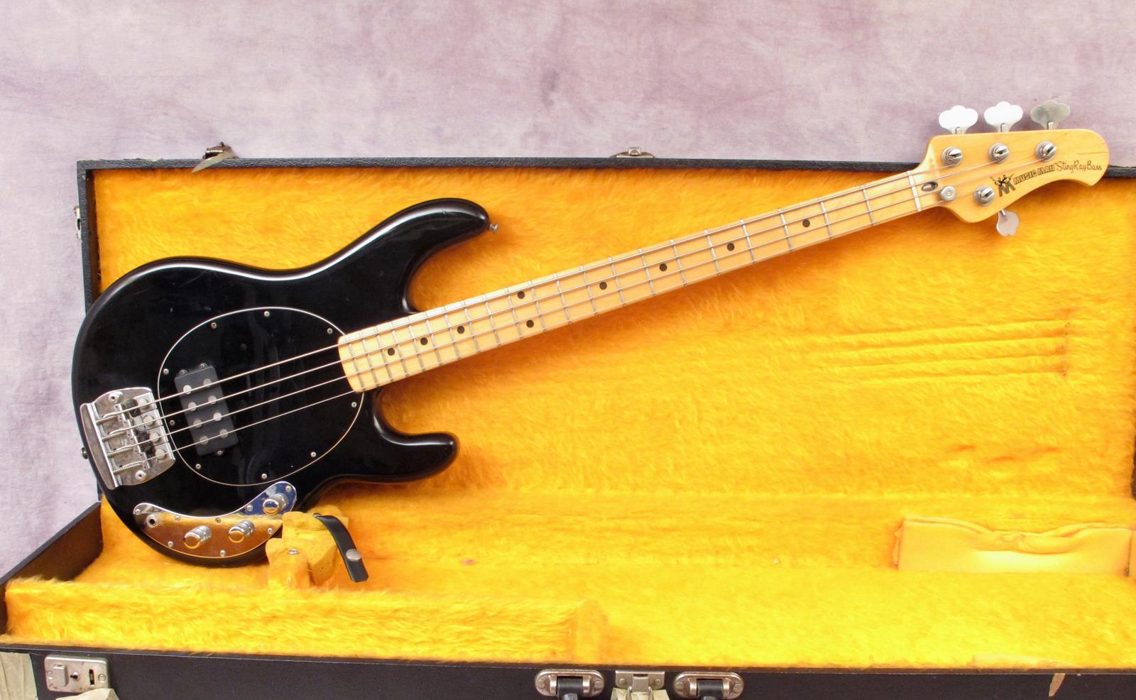 music man stingray 1977 black bass for sale andy baxter bass guitars ltd. Black Bedroom Furniture Sets. Home Design Ideas
