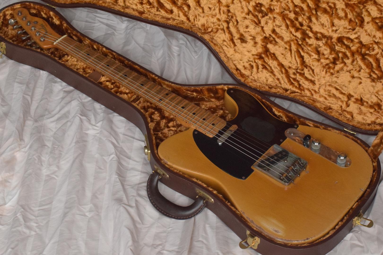 fender telecaster 1953 blonde guitar for sale atoyboy guitars. Black Bedroom Furniture Sets. Home Design Ideas