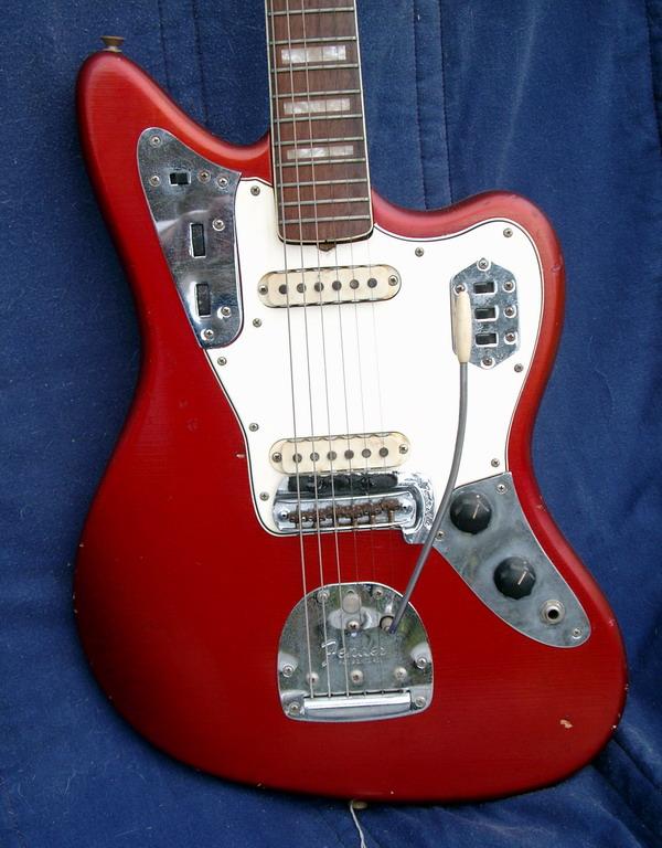 fender jaguar car custom color 1966 candy apple red car guitar for sale hendrix guitars. Black Bedroom Furniture Sets. Home Design Ideas