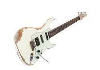 Franfret Guitars AXE Relic 2016 Polyurethane Vintage White