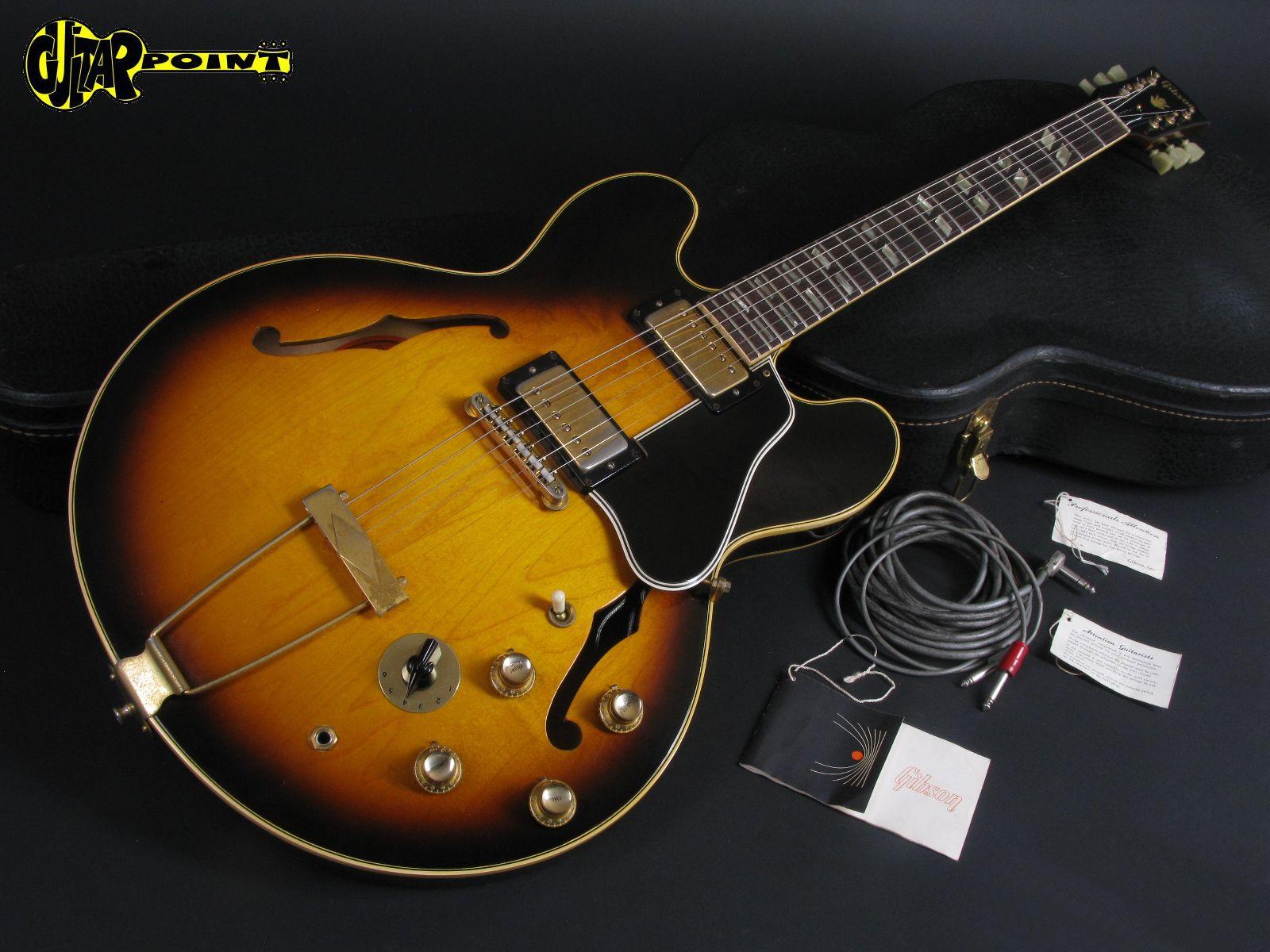 gibson es 345 tdsv stereo 1966 sunburst guitar for sale guitarpoint. Black Bedroom Furniture Sets. Home Design Ideas