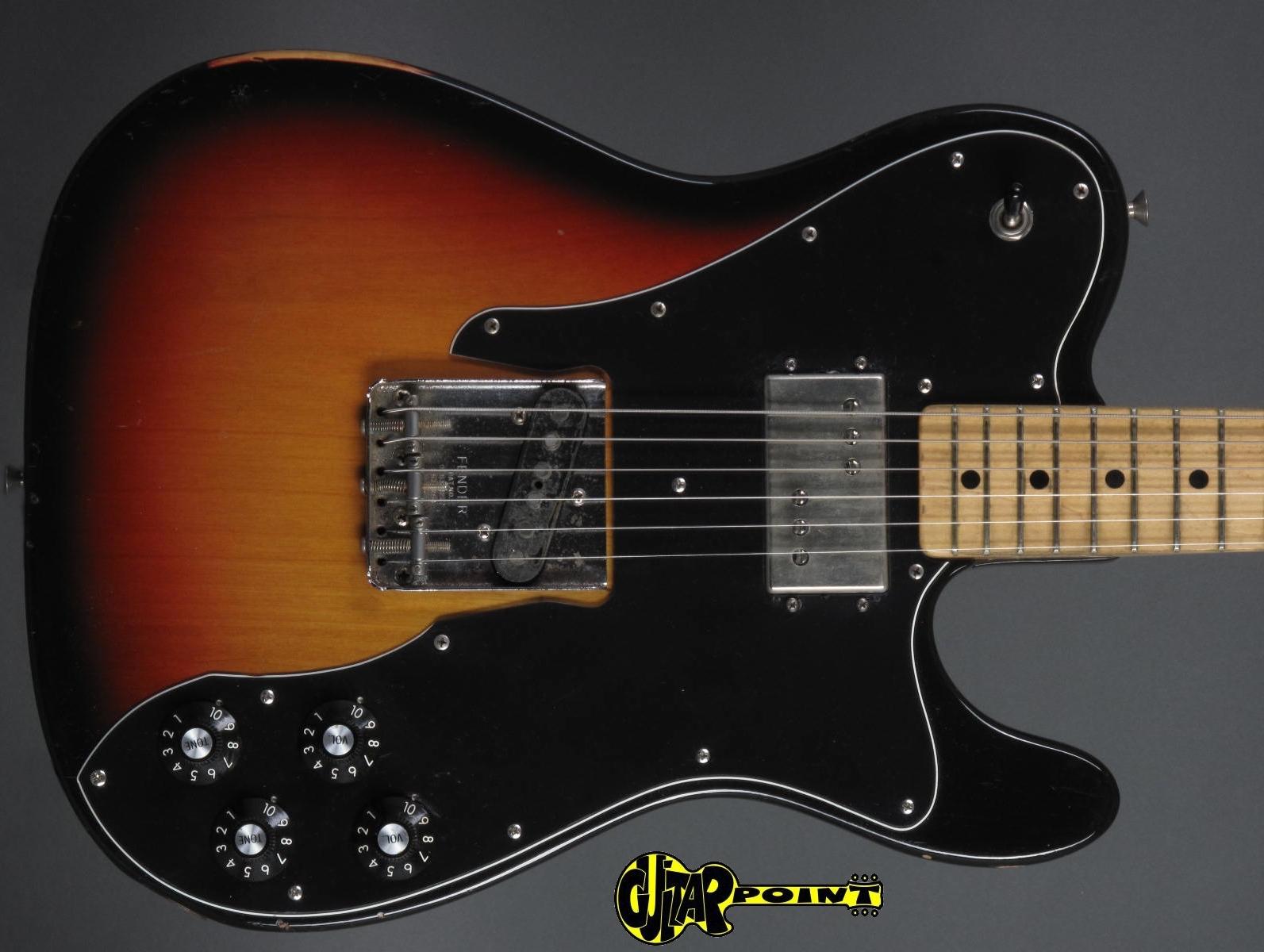 fender telecaster custom 1973 3 tone sunburst guitar for sale guitarpoint. Black Bedroom Furniture Sets. Home Design Ideas