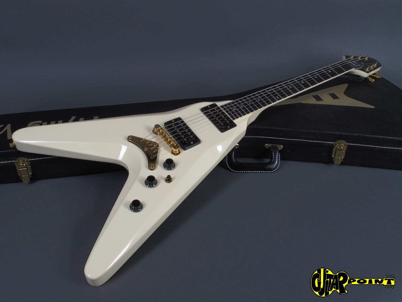 gibson flying v 2 1982 white guitar for sale guitarpoint. Black Bedroom Furniture Sets. Home Design Ideas
