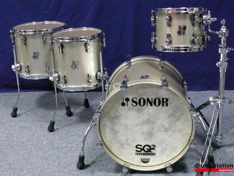 Sonor sq2 shellset 2016 champagne sparkle drum for sale for 18 inch floor tom for sale