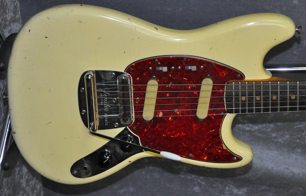 fender mustang 1964 original olympic white guitar for sale tip top musik. Black Bedroom Furniture Sets. Home Design Ideas
