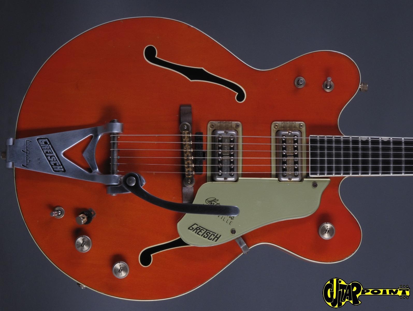 gretsch 6120 dc chet atkins 1968 orange guitar for sale guitarpoint. Black Bedroom Furniture Sets. Home Design Ideas