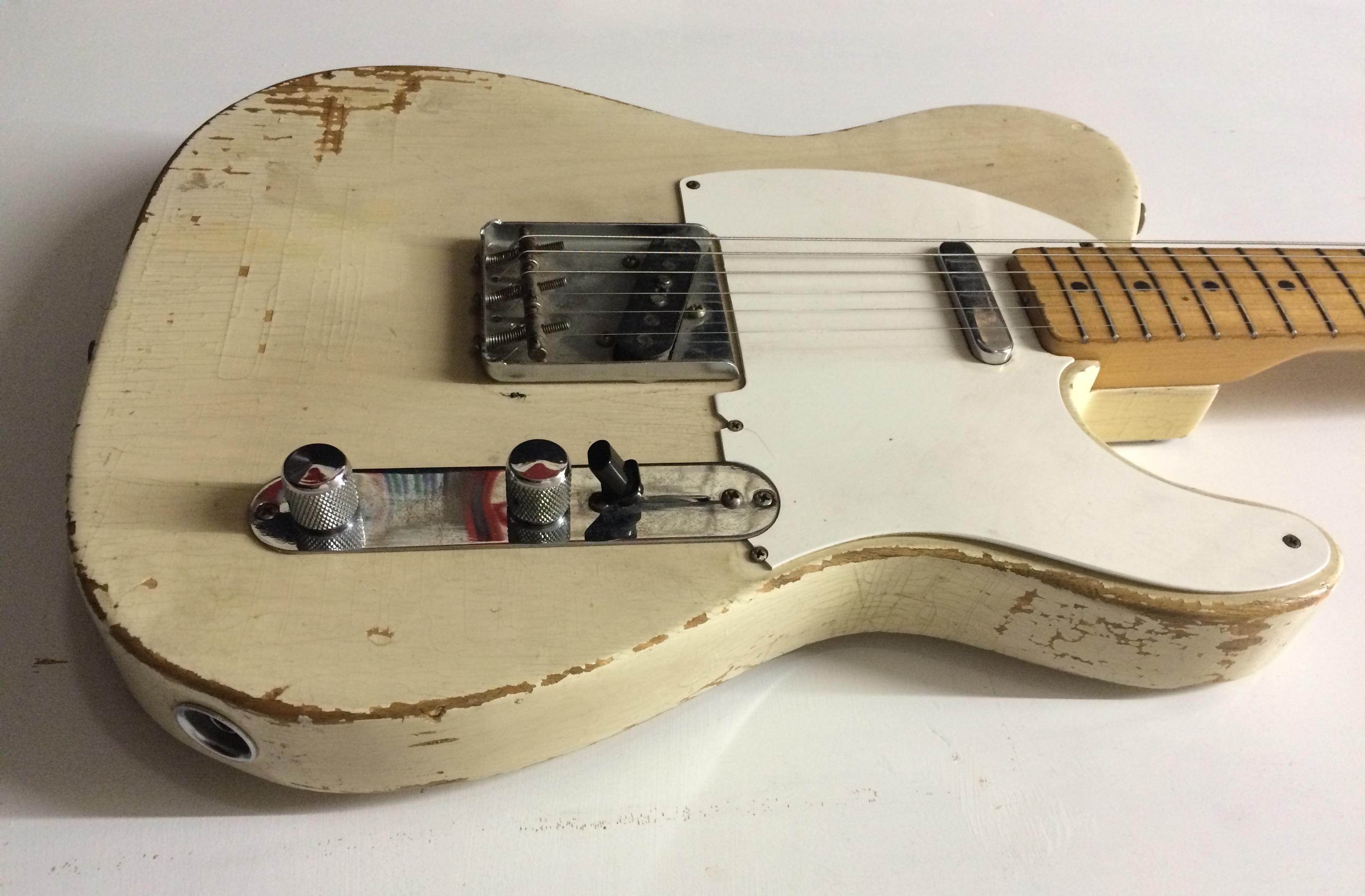 fender telecaster 1958 blonde guitar for sale richard henry guitars ltd. Black Bedroom Furniture Sets. Home Design Ideas