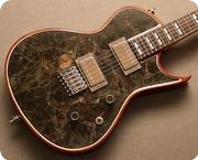 Zerberus Guitars Gorgonized Lamia 2016 Labradorite Fossil
