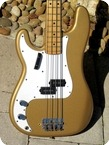 Fender Precision Bass Lefty 1968 Firemist Gold Refin
