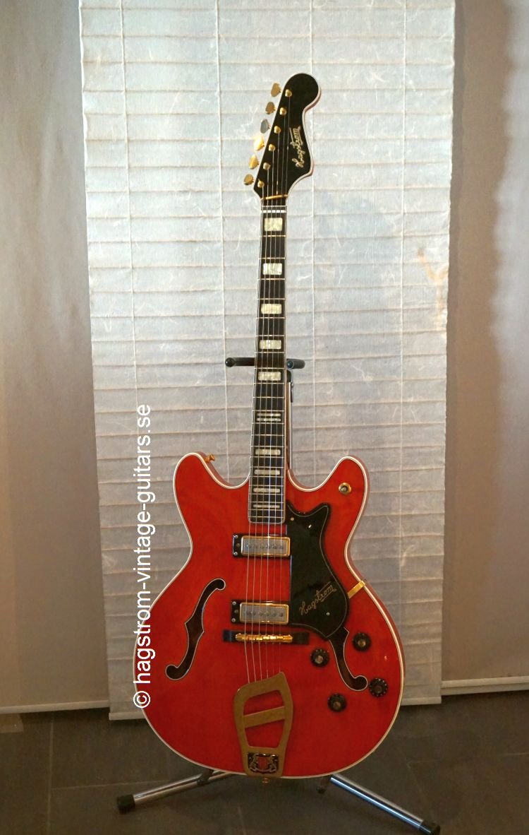 hagstrom viking de luxe 1967 red guitar for sale hagstrom vintage. Black Bedroom Furniture Sets. Home Design Ideas