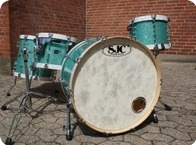SJC Custom Drums Custom Kit 2008 Green Broken Glass