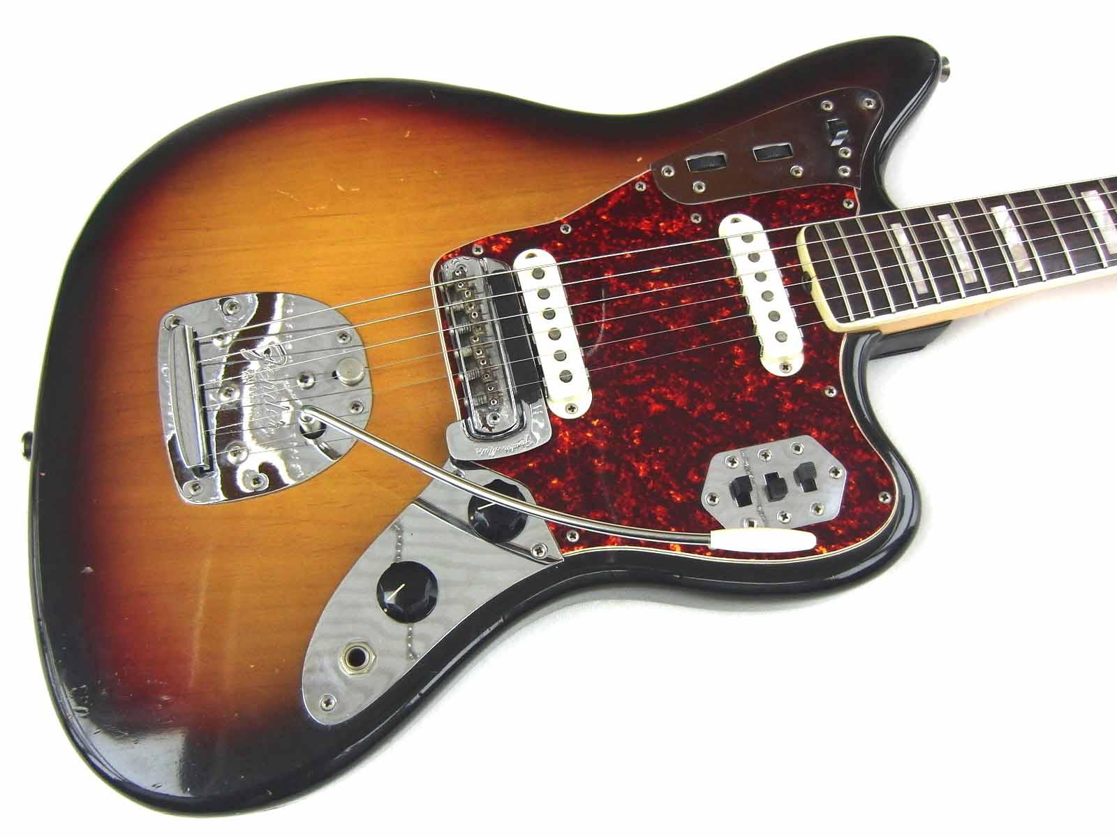 fender jaguar 1973 sunburst guitar for sale wutzdog guitars. Black Bedroom Furniture Sets. Home Design Ideas