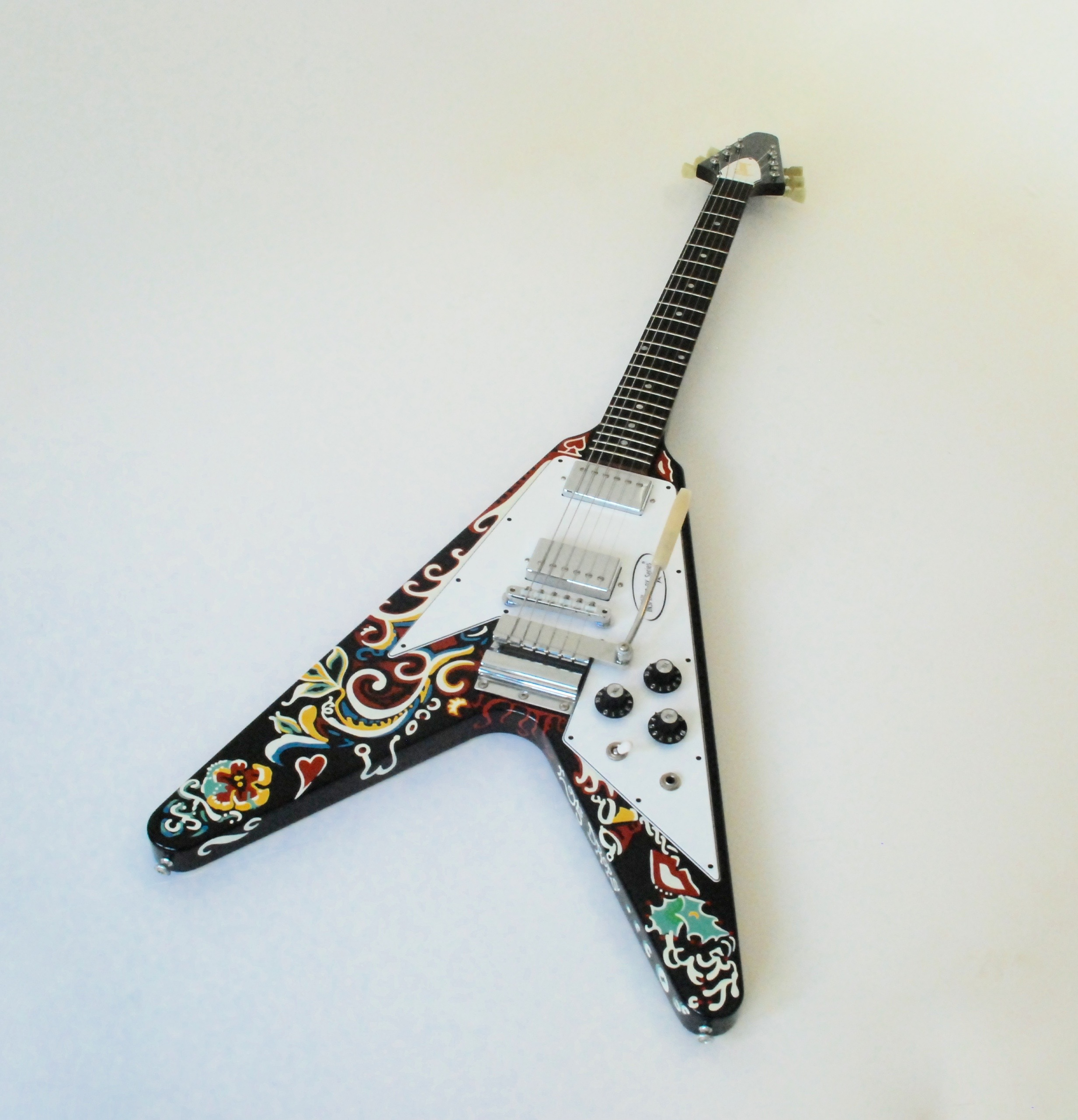 gibson flying v psychedelic jimi hendrix custom shop 2006 guitar for sale bass n guitar. Black Bedroom Furniture Sets. Home Design Ideas