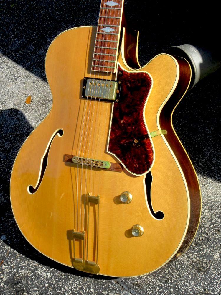epiphone triumph regent e412 electric 1974 blonde guitar for sale guitarbroker. Black Bedroom Furniture Sets. Home Design Ideas