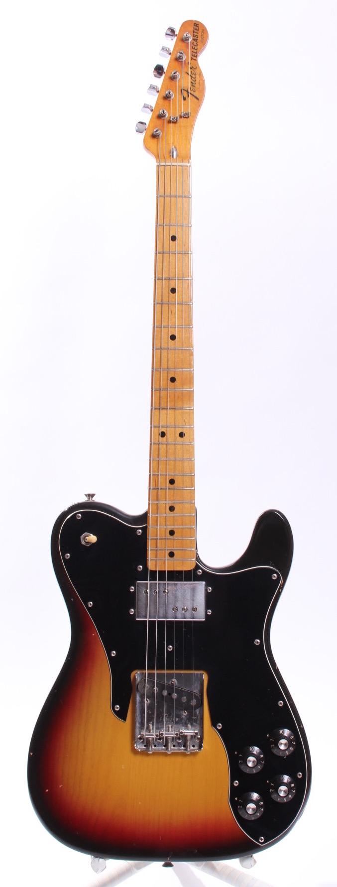 fender telecaster custom 1974 sunburst guitar for sale yeahman 39 s guitars. Black Bedroom Furniture Sets. Home Design Ideas