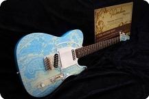 J.L.G. Mendocino Series T Style 2016 Paisley Daphne Blue Vintage White Glossy Nitro