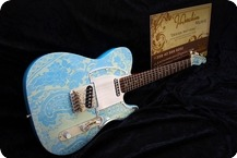 J.L.G. Mendocino Series T Style 2016 Paisley Daphne Blue Vintage White Glossy Nitro