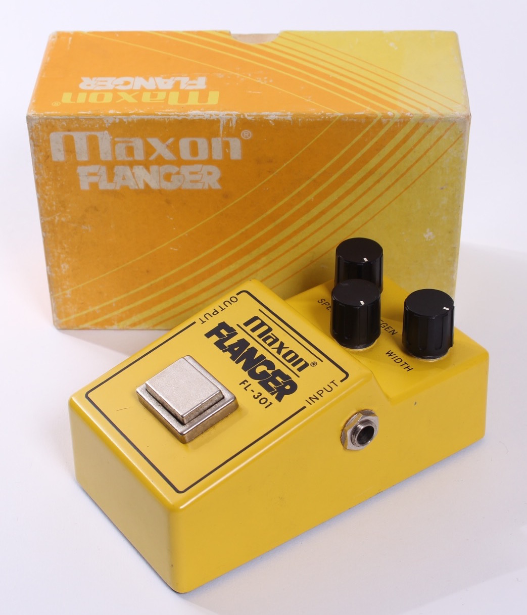 maxon flanger fl 301 1981 yellow effect pedal for sale yeahman 39 s guitars. Black Bedroom Furniture Sets. Home Design Ideas
