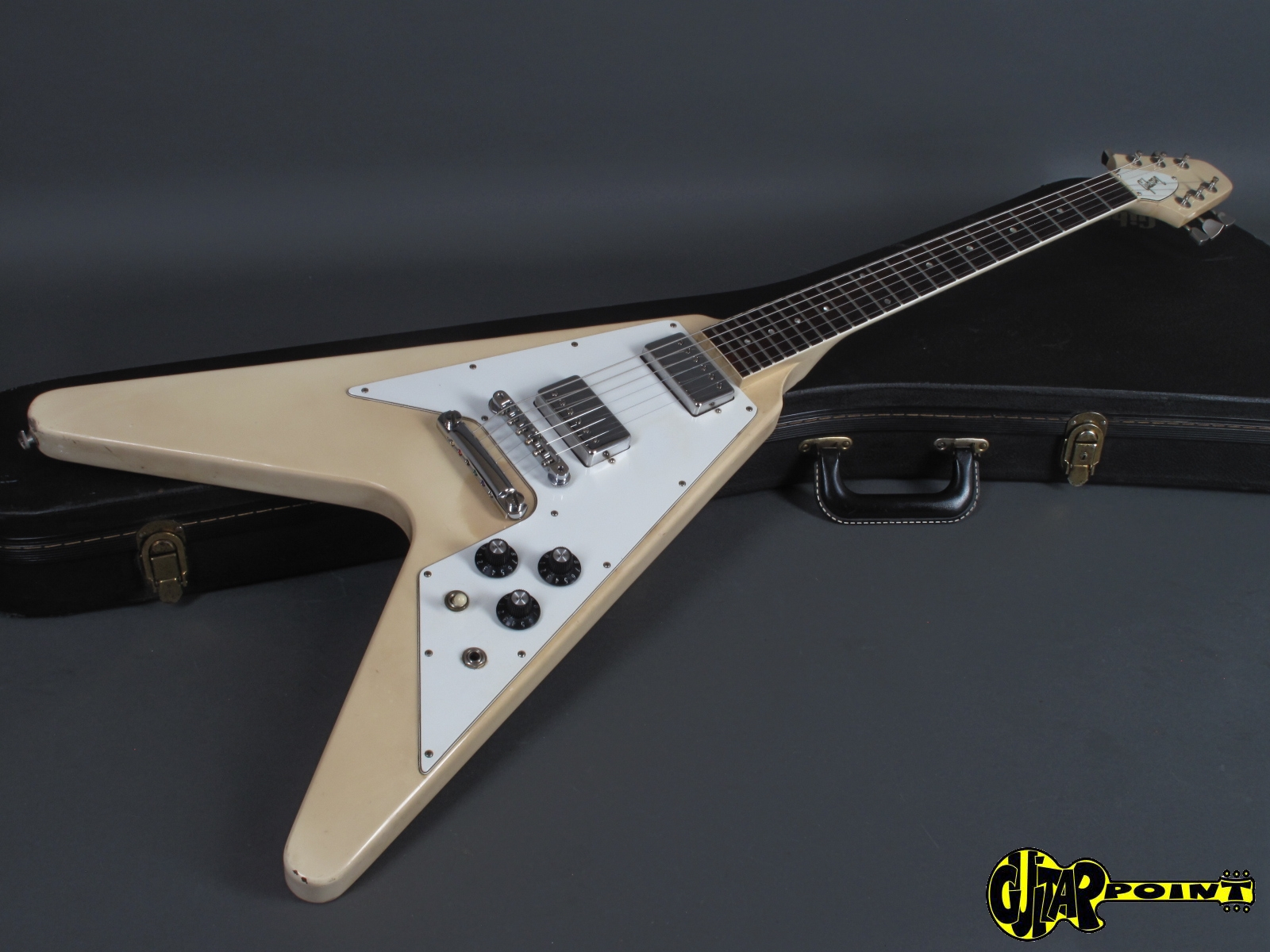gibson flying v 1981 white guitar for sale guitarpoint. Black Bedroom Furniture Sets. Home Design Ideas