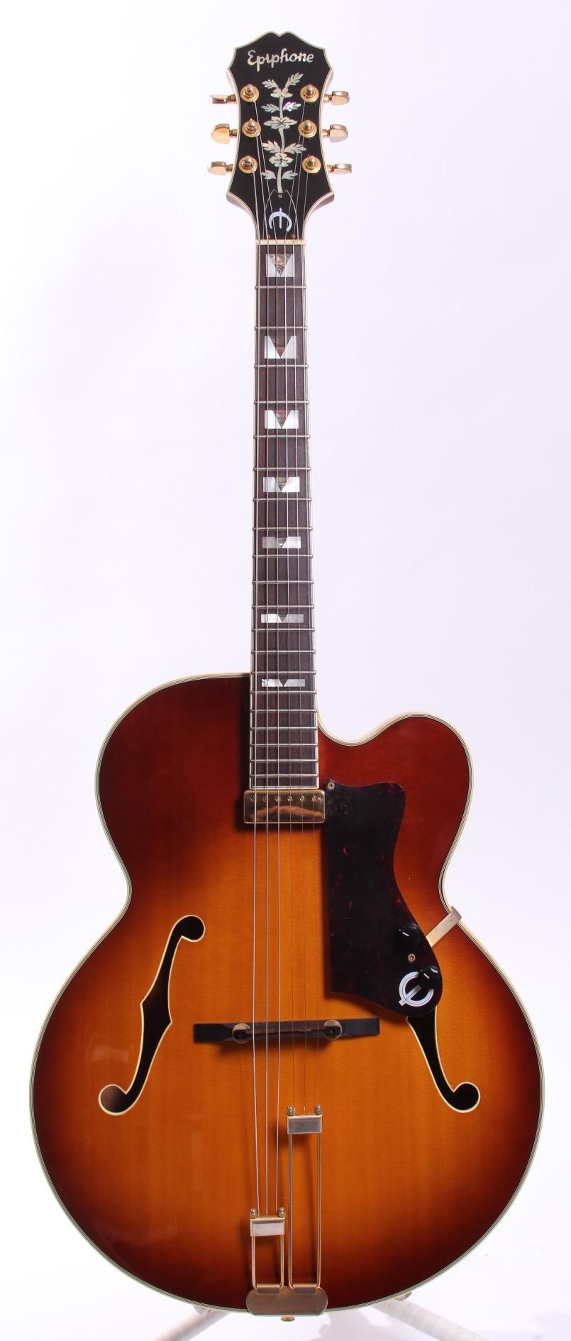 epiphone japan emperor solid top 1991 sunburst guitar for sale yeahman 39 s guitars. Black Bedroom Furniture Sets. Home Design Ideas