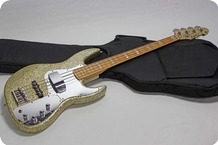 EdwardsESP Jazz Bass 1996 Gold Sparkle