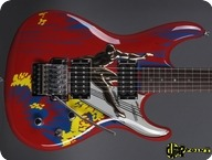 Ibanez Joe Satriani 20th Anniversary 2008 Red Silver Surfer