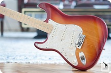Fender Fender American Deluxe Ash Stratocaster Left Handed 2004 Aged Cherry Sunburst