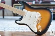 Fender Fender American Deluxe 50th Anniversary Stratocaster Left Handed 2004 2 Tone Sunburst
