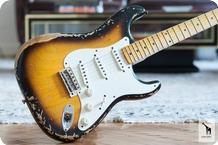 Fender Fender Custom Shop 1956 Stratocaster Heavy Relic 2013 2 Tone Sunburst