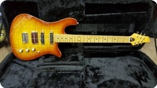 Soloway Guitars Swan LN6 Cherryburst Flame