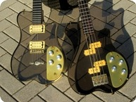 Renaissance SPG Guitar SPB Lucite Bass Set In New Old Stock 1978 Lucite