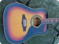 Eko Ranger XII 12 String Ltd Edition 1967 Dark Sunburst