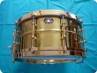 Ludwig Ludwig Millennium Snare Drum Brass On Brass 14 X 65 2009 Brass