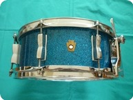 Ludwig WFL Buddy Rich Super Classic Snare Drum 14 X 55 1950 Aqua Marine Sparkle