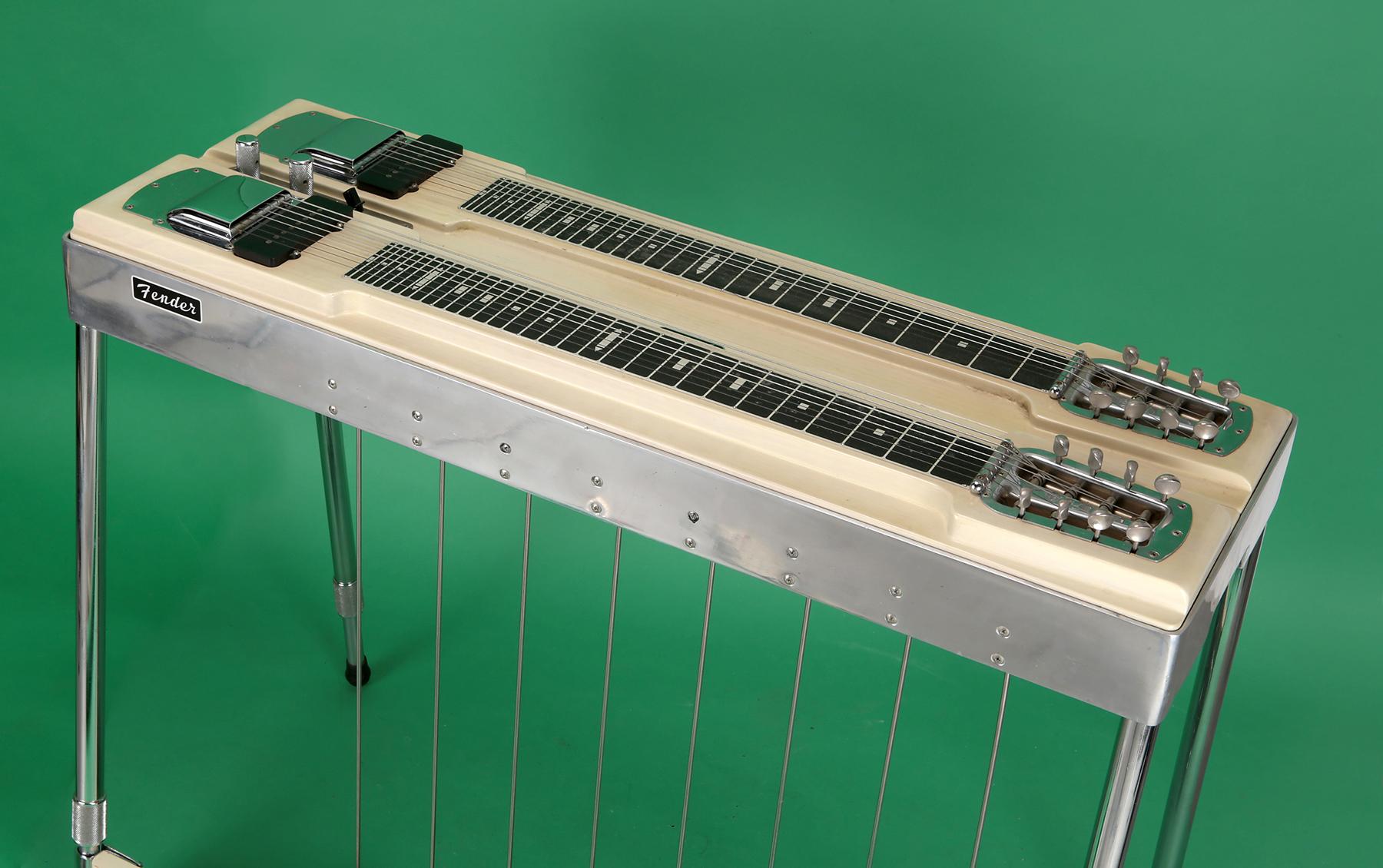 fender 1000 model pedal steel guitar 1958 blonde guitar for sale jay rosen music. Black Bedroom Furniture Sets. Home Design Ideas