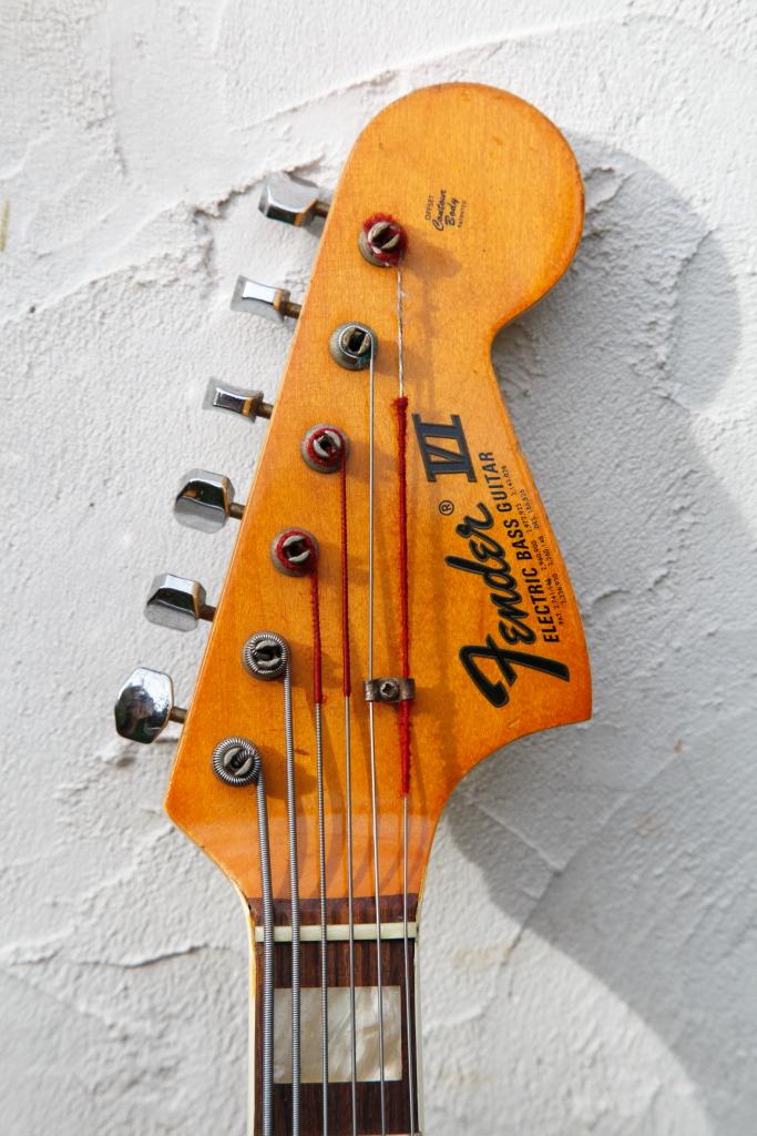 fender fender vi string electric bass guitar 1970 sunburst bass for sale. Black Bedroom Furniture Sets. Home Design Ideas