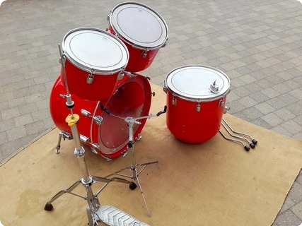 Meinl Wood Fiberglass Drumkit Red