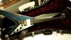 Gibson Custom Shop Flying V 1959 Reissue Pelham Blue Heavy Aged 2015 Pelham Blue Heavy Aged