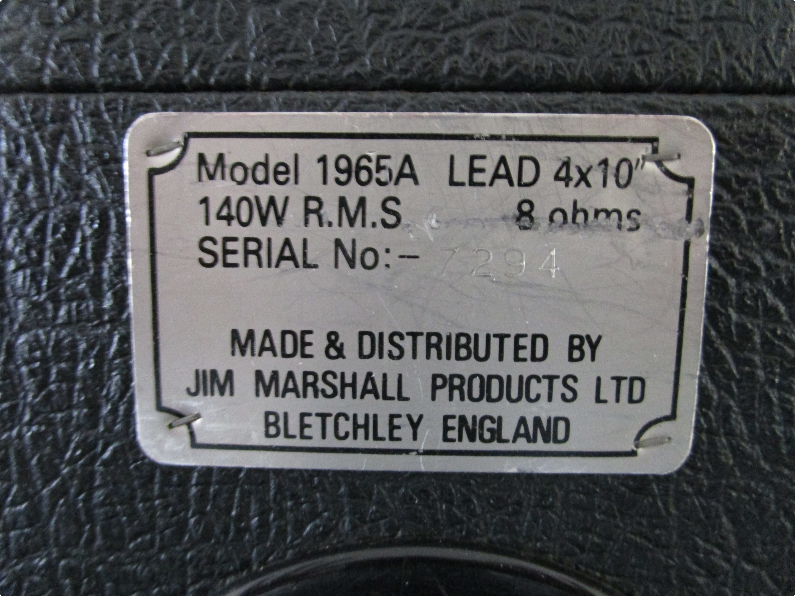 Marshall 4x10 Cabinet Marshall 4x10 1965a Cabinet Original G10l 35 Speakers 1965a 1980s