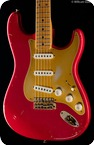 Fender Custom Shop Custom Collection 1956 Stratocaster Relic 2013 Faded Fiesta Red